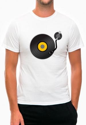 футболка retro vinyl record player
