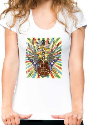 женская футболка rock n roll never die girl