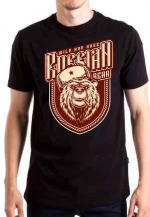 футболка russian bear cigar