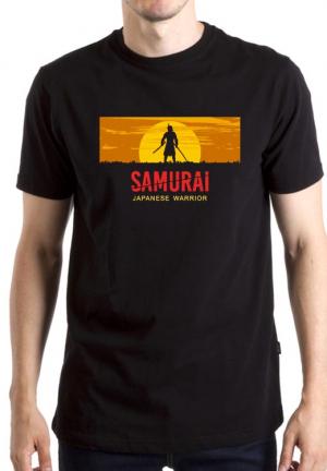 футболка samurai japanese warrior