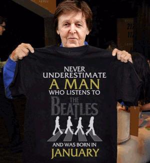 футболка beatles never understimate man abbey road