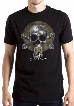 футболка skull 4 microfons