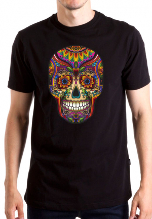футболка skull color