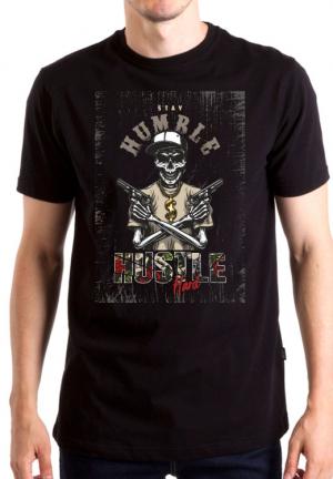 футболка stay humble hustle hard skull