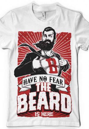 футболка the beard is here