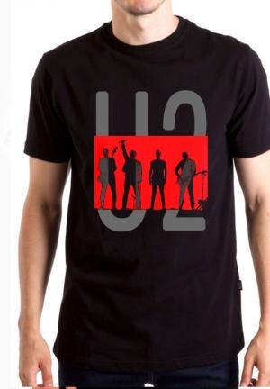 футболка u2 group red