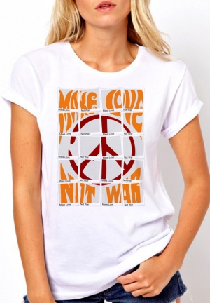 футболка make love not war - на заказ
