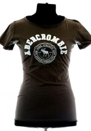 коричневая футболка abercrombie-fitch