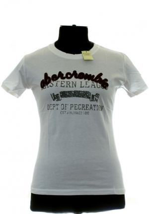 белая футболка abercrombie-fitch