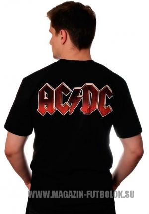 футболка с названием рок группы ac/dc