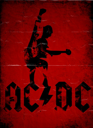 постер aс-dс red poster