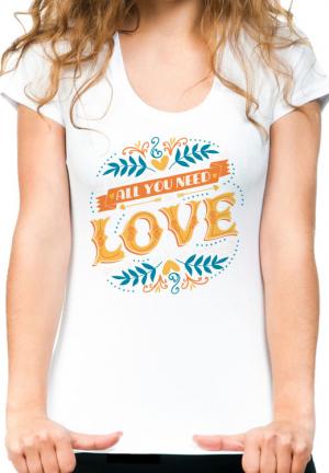 женская футболка all you need is love girls