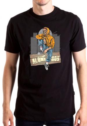 футболка alone boy
