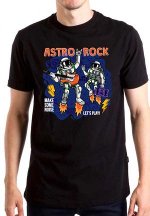 футболка astronauts playing guitar
