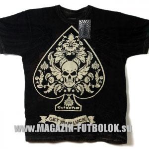байкерская футболка get your luck