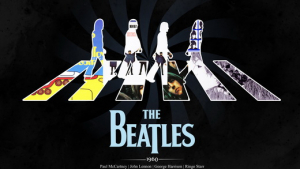 постер beatles black poster
