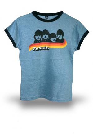 футболка beatles blue