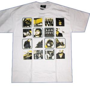 белая футболка  bon jovi