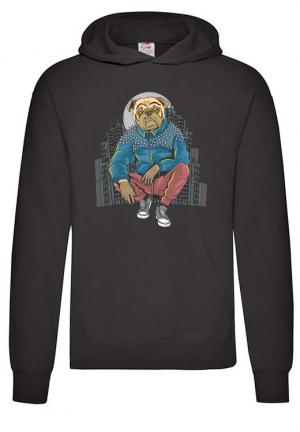 худи bull dog gangster hoodie black