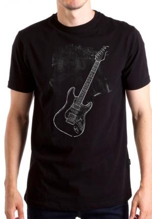 футболка с гитарой chalk coal