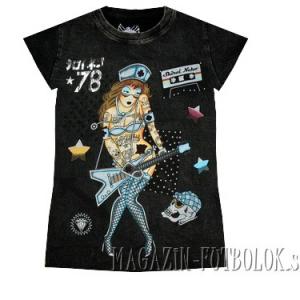 прикольная футболка женская guitar girl