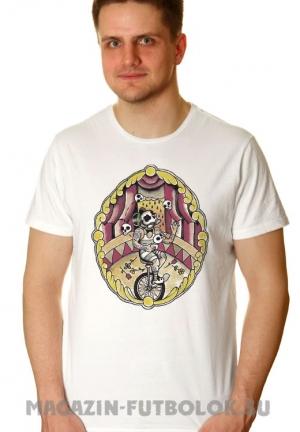 футболка циркач на моноцикле