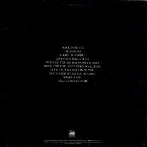виниловый диск ac/dc back in black