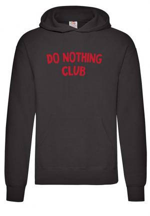 худи do nothing club hoodie man black