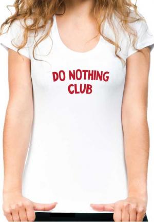 футболка do nothing club white girl
