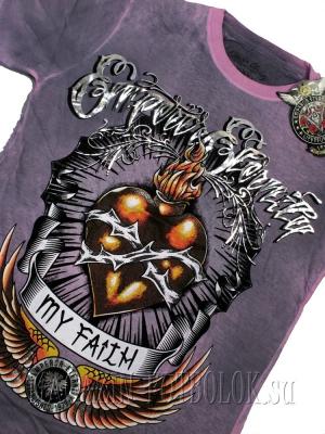футболка с сердцем flaming heart