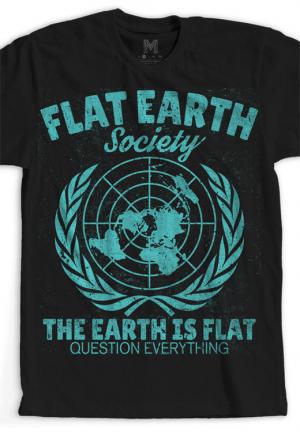 футболка flat earth society