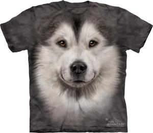 футболка alaskan malamute face