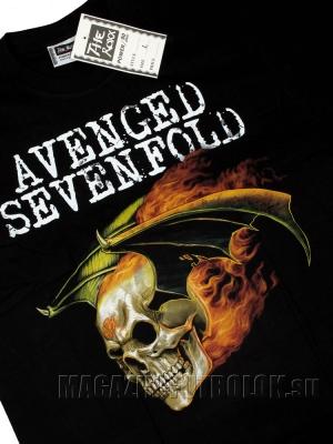 футболка avenged sevenfold skull wings fire