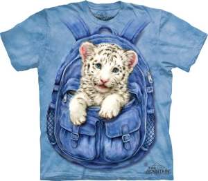 футболка backpack white tiger