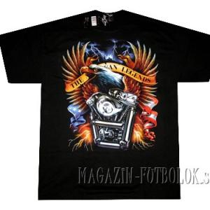 футболка байкерская eagle&engine
