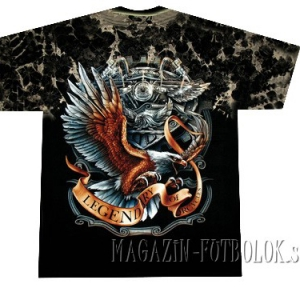 футболка байкерская eagle legendary tie-dye
