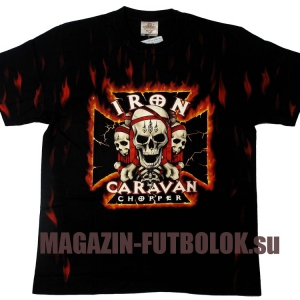 футболка байкерская iron caravan chopper