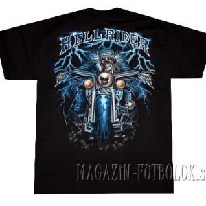 футболка байкерская skull hell rider