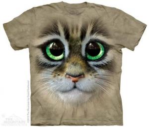 футболка big eyes kitten face
