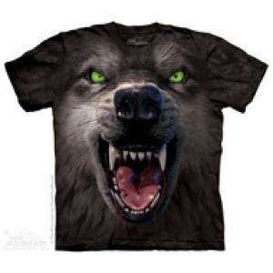 футболка big face attack wolf