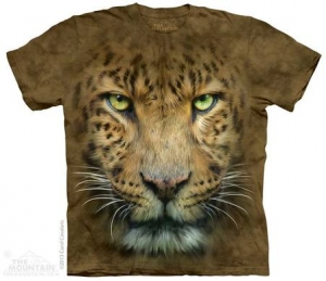 детская футболка big face leopard
