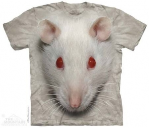 футболка big face white rat