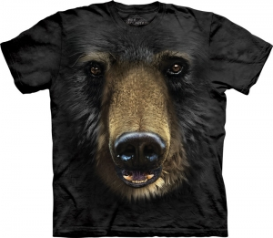 футболка black bear face