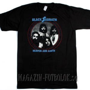 футболка black sabbath heaven earth