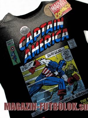 футболка captain america comics