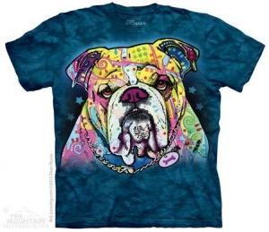 футболка colorful bulldog