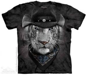 футболка cowboy white tiger