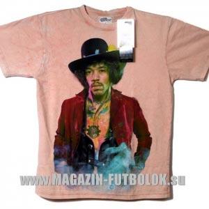 футболка джимми хендрикс в шляпе