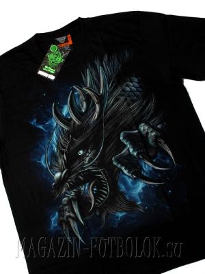 футболка дракон  blue wind
