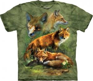 футболка fox collage